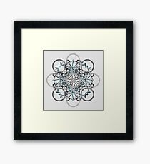Bikes Bicycles Star Grey Framed Print