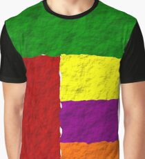 Rough Patchwork  Graphic T-Shirt
