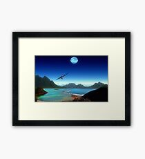 Southern Climes - Collaboration Ashley Ng/alienvisitor Framed Print