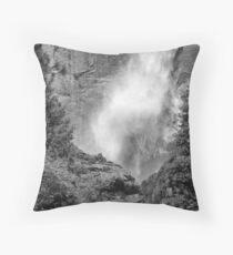 Power of Upper Yosemite Fall Throw Pillow