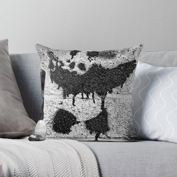 Banksys Panda Throw Pillow