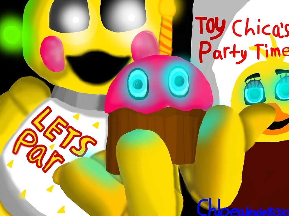 Toy Chica Smile Sticker by Chloealexie123
