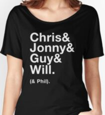 Coldplay - Chris&Jonny&Guy&Will&Phil Women's Relaxed Fit T-Shirt