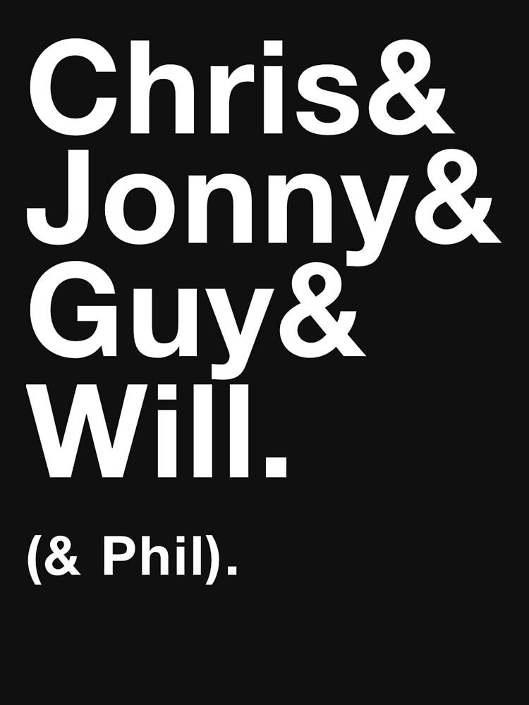 Coldplay - Chris&Jonny&Guy&Will&Phil by rlpdesign