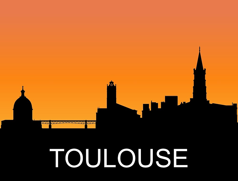 Toulouse, France, romantic sunset, travel sticker by AmorOmniaVincit
