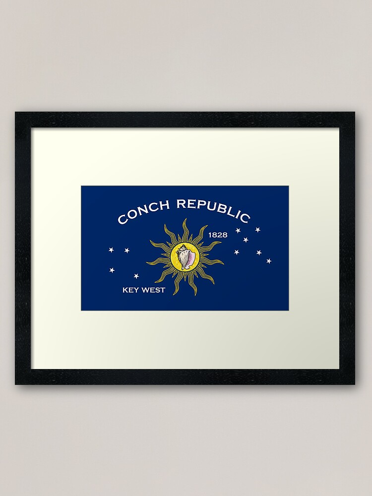 Alternate view of Flag of the Conch Republic (Key West, Florida) Framed Art Print
