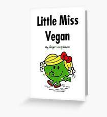 Little Miss Vegan Greeting Card