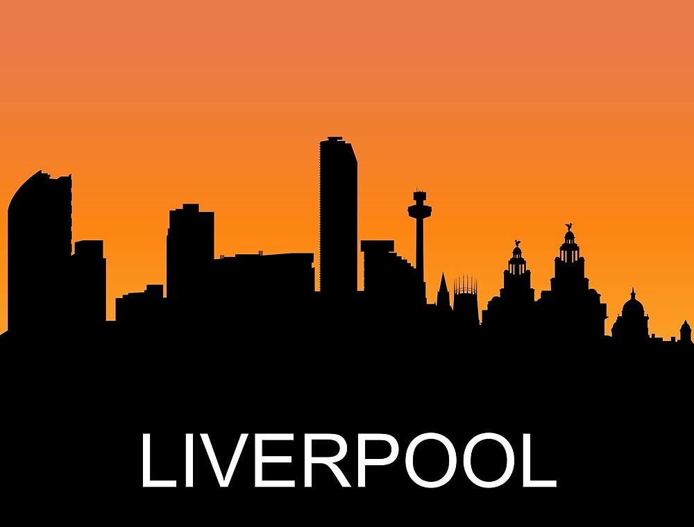 Liverpool, England, romantic sunset, travel sticker by AmorOmniaVincit