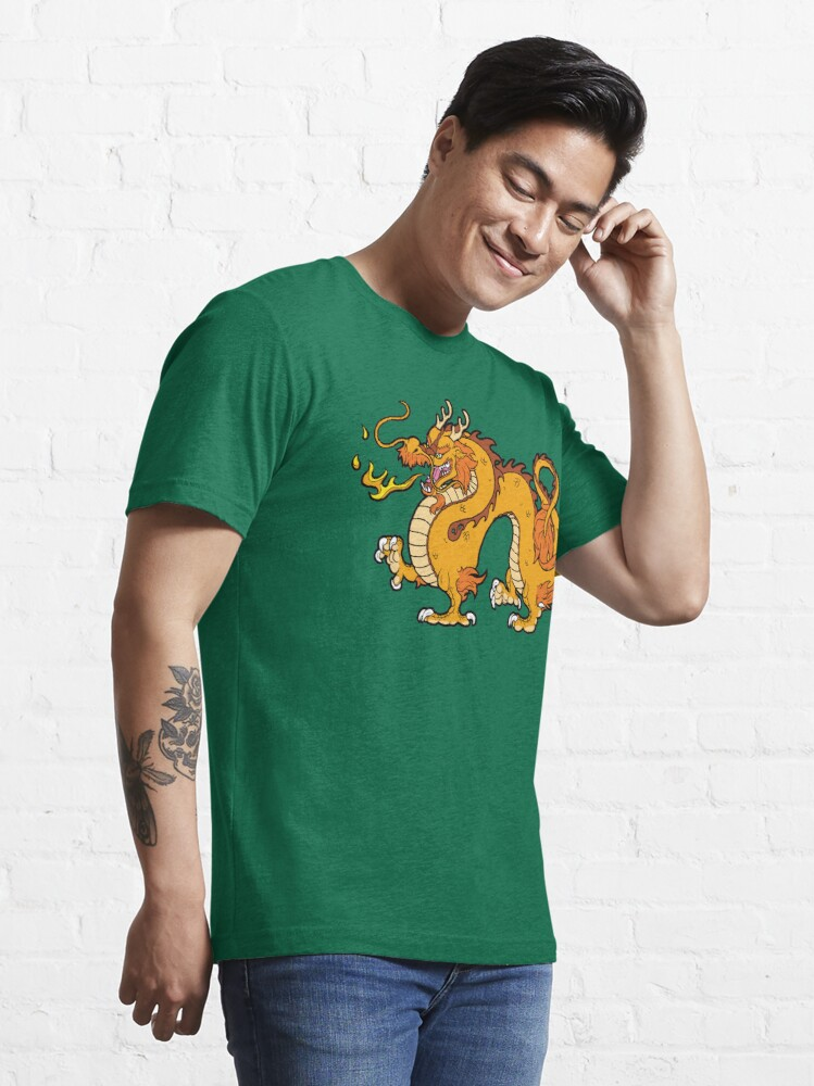 Alternate view of Chinese Dragon - Gold Essential T-Shirt