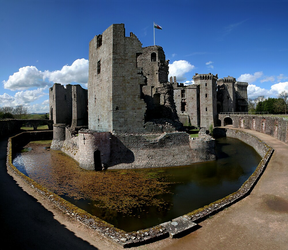 Raglan Castle Wales by Anthony Thomas