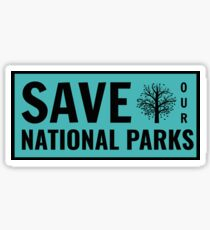 Save Our National Parks Sticker