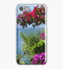 Anchored Sailing Boat, Pink, Red And Purple Flowers iPhone Case/Skin