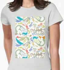 ethics white Womens Fitted T-Shirt