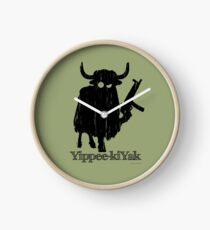 Yippee-kiYak Clock