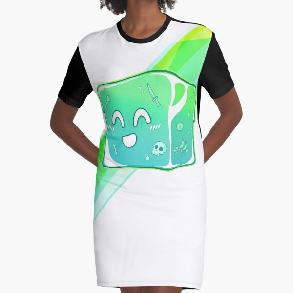 Giggly Gelatinous Cube  - Cute D&D Adventures Graphic T-Shirt Dress