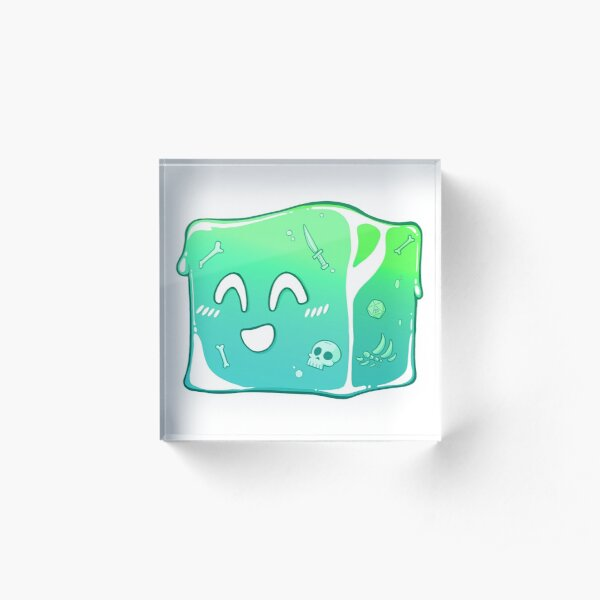 Giggly Gelatinous Cube  - Cute D&D Adventures Acrylic Block
