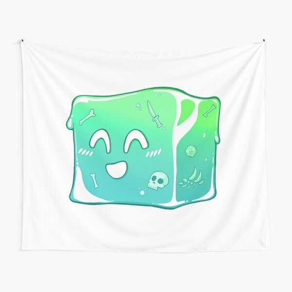 Giggly Gelatinous Cube  - Cute D&D Adventures Tapestry