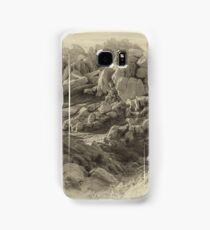 Rock Formation - Asilomar State Beach - Black and White Samsung Galaxy Case/Skin