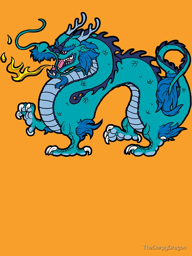 Chinese Dragon - Blue by TheDerpyDragon