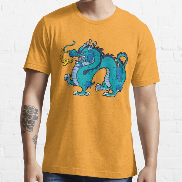 Chinese Dragon - Blue Essential T-Shirt