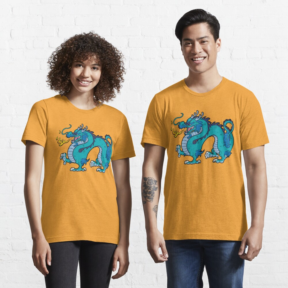 Chinese Dragon - Blue Essential T-Shirt