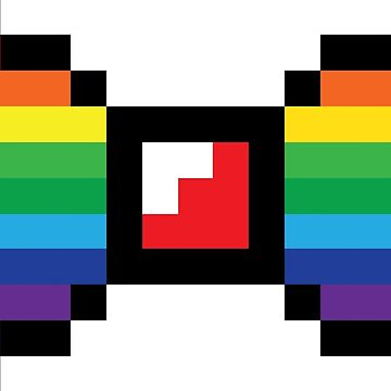 Gay / LGBT Pixel Bow by 3nvy