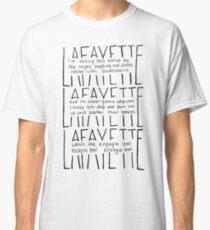 Camiseta clásica LAFAYETTE - Guns & Ships letra en español