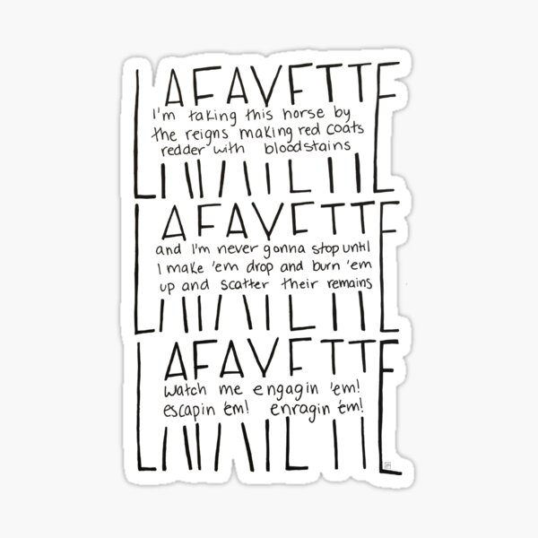 LAFAYETTE - Guns & Ships Lyrics Glossy Sticker