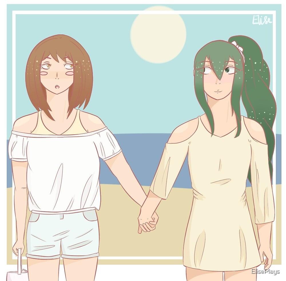 Tsuchako Summer Date by ElisePlays
