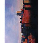 Nottingham Lace Market in Red Light by medlin
