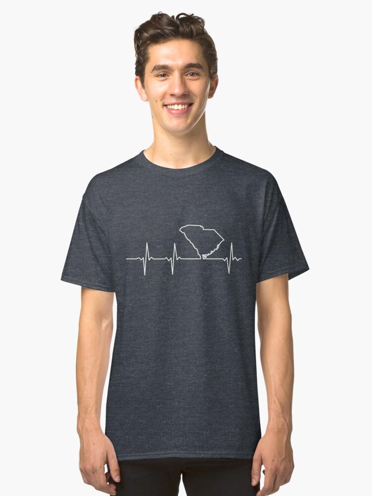 Heartbeat South Carolina Classic T-Shirt Front