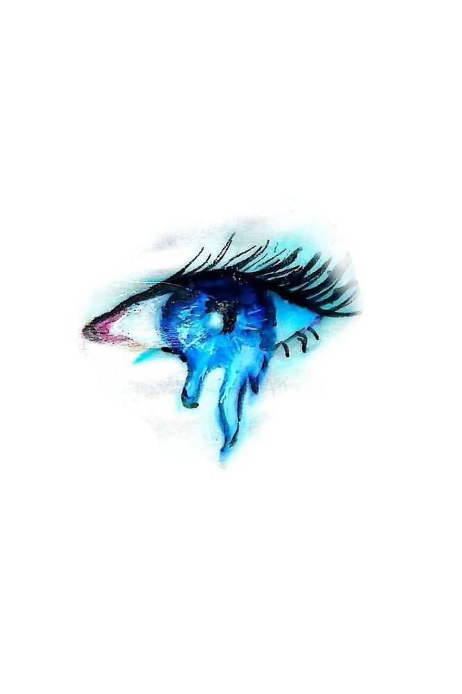 blue melting eye by CoduCat