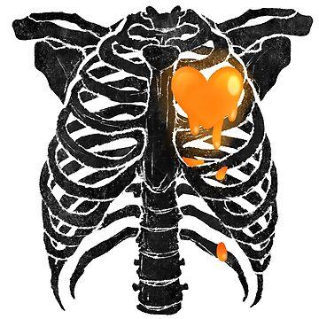 Skeleton Heart - Orange by primomon