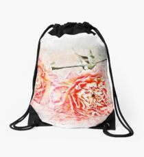 Carnation Flower, Illustration - Nelke Drawstring Bag