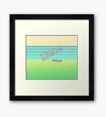 Westport, Washington | Surf Stripes Framed Print