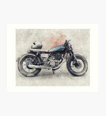 Cafe Racer, Vintage Motorcycle, Retro Motorcycle, Motorcycle, Biker Gift Art Print
