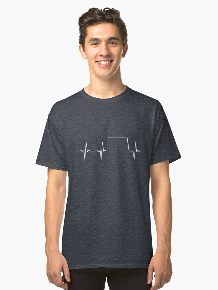 Heartbeat North Dakota Classic T-Shirt Front