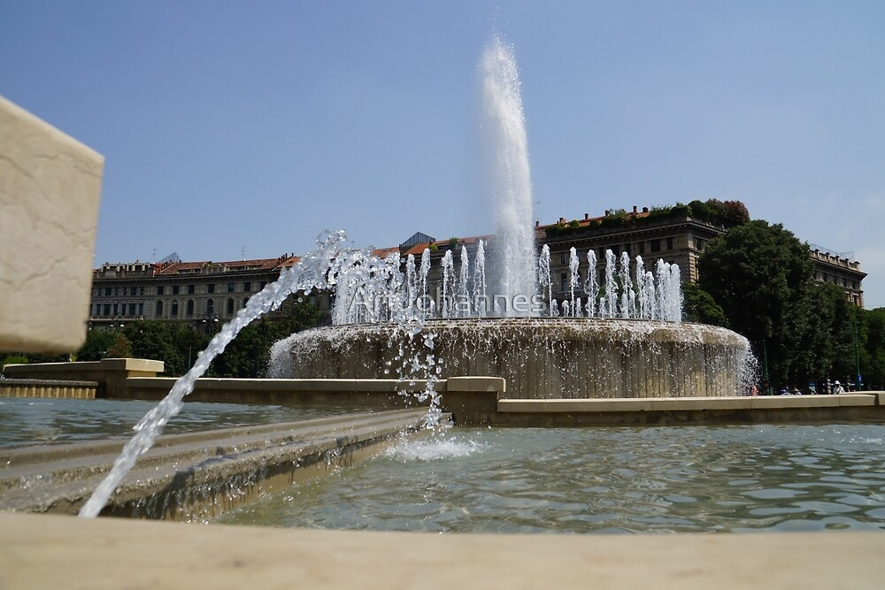 Fontana di Piazza Castello by ArtJohannes