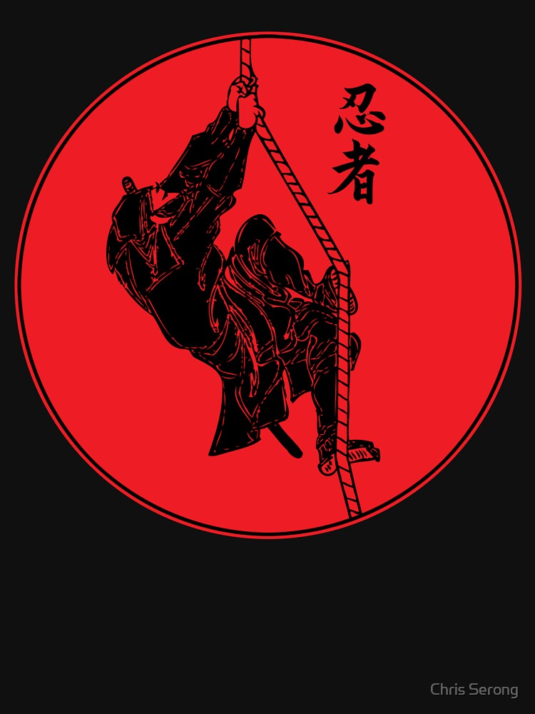 Ninja Climbing A Rope - Large by ChrisSerong