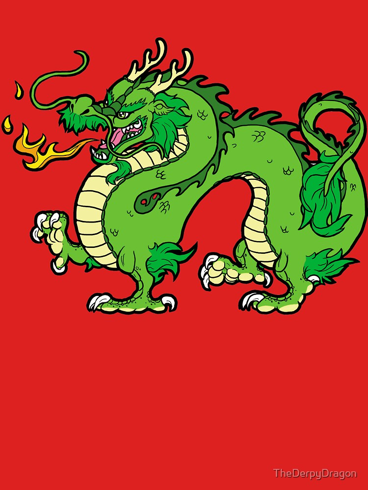 Chinese Dragon - Green by TheDerpyDragon