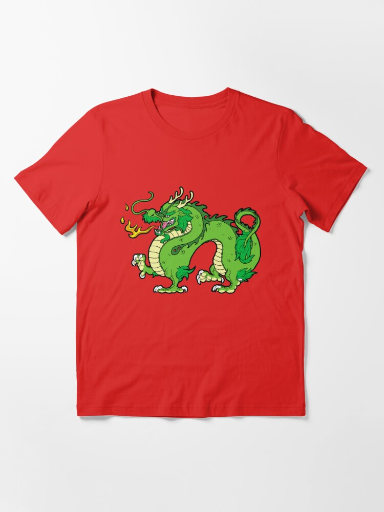 Alternate view of Chinese Dragon - Green Essential T-Shirt