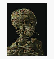 Head of a Skeleton Photographic Print