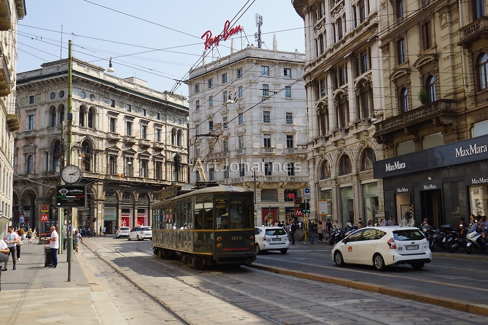 Italy, Milaan, tram, Rayban by ArtJohannes