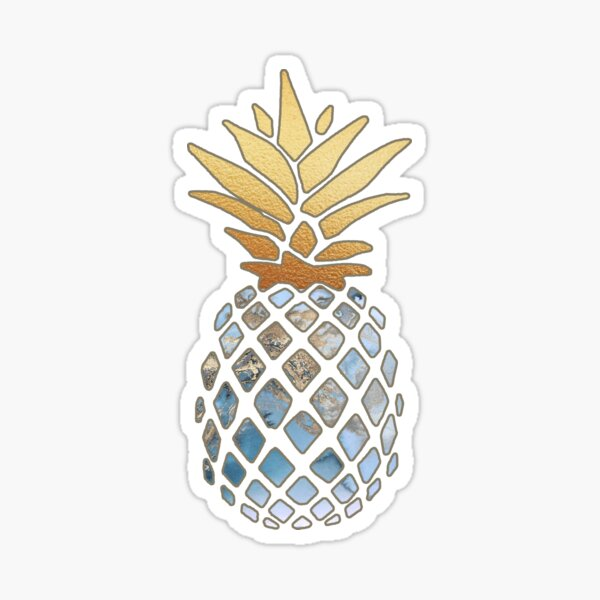 Gold Pineapple Sticker