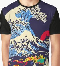 The Great Wave off Oni Island Graphic T-Shirt