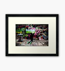 Color Coordinated-Graffiti  Melbourne Framed Print