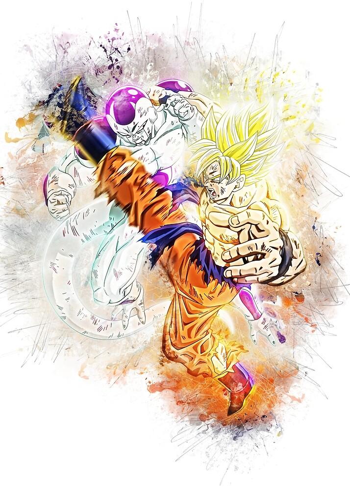 Goku vs Frieza by puck4001