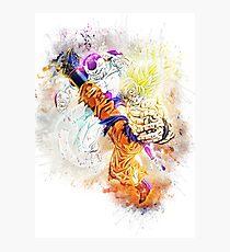 Goku vs Frieza Photographic Print