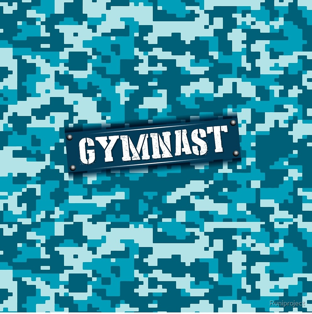 Gymnast aqua camo by Runiproject