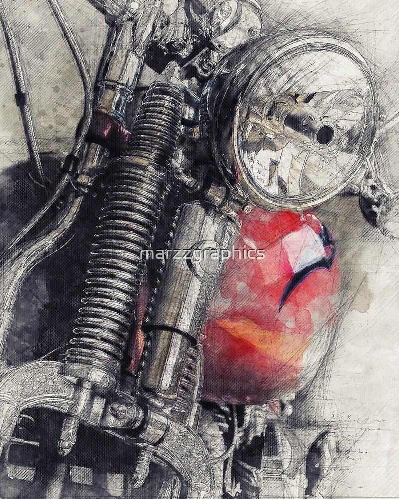 Harley Motorcycle, Vintage Harley, Vintage Motorcycle, Retro Motorcycle, Motorcycle Art, Biker Gift by marzzgraphics